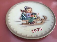 Vintage West German 1975 Boy Riding Sled Themed MJ Hummel Goebel Display Plate
