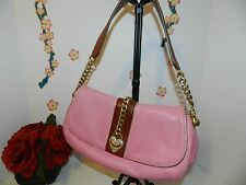 JUICY COUTURE PINK LEATHER JEWELED SOHO BAGUETTE - GUC