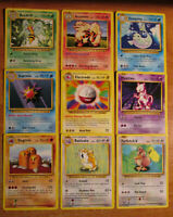 NM Unlimited COMPLETE Pokemon BASE 70-Card Uncommon//Common Set Trainer Energy