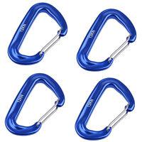 12kN Blau Aluminium Federklammer Karabinerhaken für Rock Tree Climbing ~