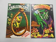 Challengers of the Unknown comic lot of 2! #'s 64 and 65! VG to Fine range DC!