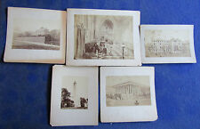 Lot of 5 Early Albumen Mounted Photos - Outdoor Scenes in Europe