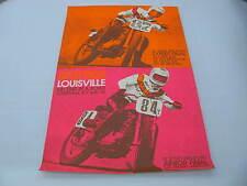 Original 1972 Harley Davidson Race Poster Louisville Mark Brelsford Scott