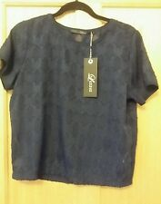 LUXZUZ BLUE SIZE UK 10 TOP BRAND NEW WITH TAGS RRP £39.99