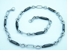 NECKLACE STAINLESS STEEL GREEK STYLE LINK CHAIN  NECKLACE 02
