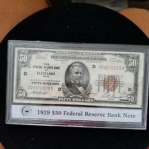1929 $50 Federal Reserve Bank Note Cleveland Ohio