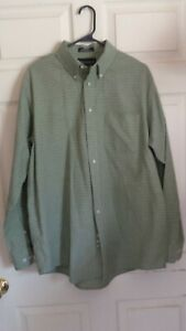 Croft & Barrow Mens Shirt Large 161/2 36 Long Sleeve Button Down Oxford Olive
