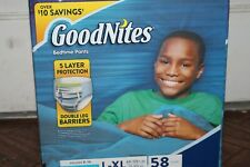 58 Count GoodNites Bedtime Underwear for Boys L/XL Boys Size 60-120 Pounds