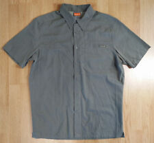 Hard-Working Merrell Mens Large L Short Sleeve Hiking Shirt Button Down Blue Plaid Euc Men's Clothing