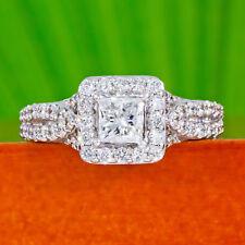 Tolkowsky Diamond Ring 1-1/2 cts tw 14k White Gold Princess cut Kay 1.53 carats