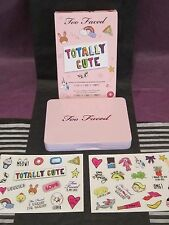 TOO FACED TOTALLY CUTE MINI PALETTE 9 EXCLUSIVE SHADES+LTD ED STICKERS $36 VALUE