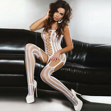 White Sexy Crotchless FishNet Body stocking Bodysuit Lingerie Nightwear 1210W