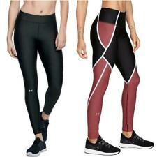 Under Armour Womens HeatGear Black Gym Ladies Fitness Activewear Leggings
