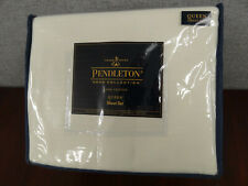 New Pendleton Home Collection 100% Cotton Flannel Queen Sheet Set Winter White