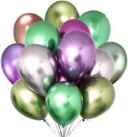 "10"" Helium LATEX MATALLIC BALLOONS x 20 PCS PARTY DECOR BIRTHDAY  CELEBRATIONS"
