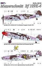AML Models Decals 1/48 MESSERSCHMITT Bf-109K-4 Fighter Part 2 with Resin Wheels