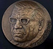 JEAN PAUL SARTRE / JESUS AND DEVIL / BRONZE MEDAL BY TORCHEUX / 68 mm / N121