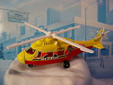 2014 Mission Force:Fire RESCUE HELICOPTER☆Yellow/Red/White;RSQ;2☆loose Matchbox