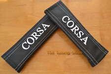 """2 x Cintura Spalla Pastiglie copre in Pelle """"Corsa"""" Bianco per Opel Vauxhall"""