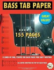 Bass TAB Paper: Best TAB Easy Write (Marc Ongley Guitar Series) (Volume 10), Ong