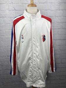 Detroit Pistons 2001 Authentic Nike On Court Warm Up Jacket Sz 2XL