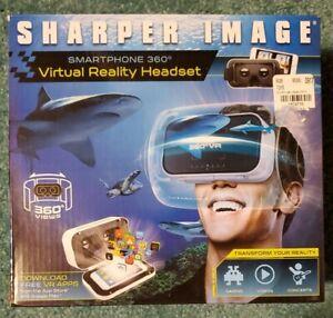 SHARPER IMAGE SMARTPHONE 360 DEGREE VIRTUAL REALITY HEADSET - NEW IN BOX! WHITE