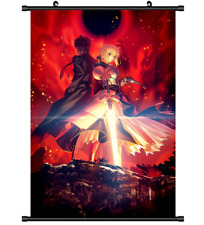 3593 Anime Fate Zero Stay night Saber Wall Poster Scroll cosplay