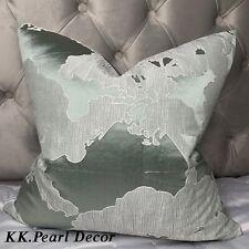 "Cushion Cover 16"" & John Lewis & Partners Komako Fabric , Mint"