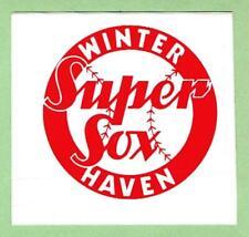WINTER HAVEN SUPER SOX ~ 1989 Senior Professional Baseball League Decal