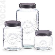 Vorratsdosen Vorratsglas Vorratsgläser Glas Vorratsgefäß Vorratsbehälter Schwarz