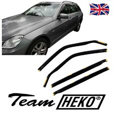 DME23289 MERCEDES E CLASS W212 ESTATE 2009-2016 WIND DEFLECTORS 4pc HEKO TINTED