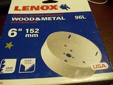 "Lenox 30096-96L 6"" Bi-Metal Hole Saw Wood/Metal extended life"