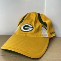 NFL Green Bay Packers Men's Fitted S/M On-Field Hat Cap Reebok Team Apparel EUC