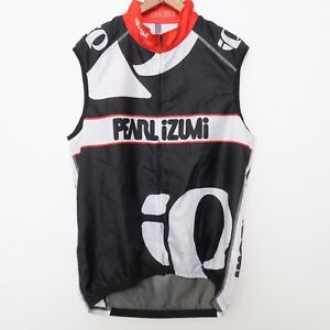 Pearl Izumi Team Cycling Wind Vest Size Large Mesh Vented Back RARE Jersey Zip