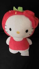doudou peluche HELLO KITTY déguisé en fraise H&M 18cm