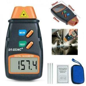 Digital Tachometer Non-Contact Photo Gun RPM Tach Tester Speed Meter C3M6