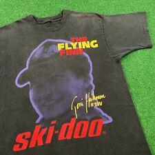 Vintage 90S Faded Ski Doo Toni Haikonen Snowmobile Racing T Shirt Tee Mens M