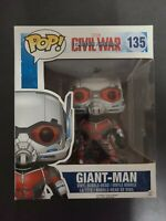 "Funko Pop Vinyl Marvel: Captain America 3 - 6"" Giant Man #135,Vaulted box scuff"