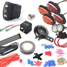 DIY ATV UTV Turn Signal Street Legal Oval LED Light Kit w/ Horn Toggle Switch