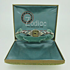 Vintage Zodiac 986 17j 14k Solid Gold with Diamonds Watch Parts Steampunk with O