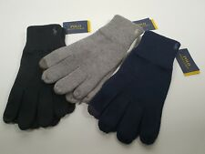 Polo Ralph Lauren Black Cotton Blended One Size Tech Winter Gloves #520