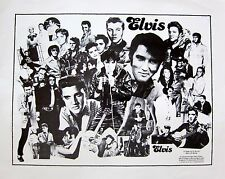 """Elvis Presley """"A Tribute To The King Of Rock"""" Collage Poster From 1986"""