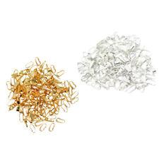 200pcs Pendant Clasps Pinch Clip Bail Pendant Connectors Jewelry DIY Making
