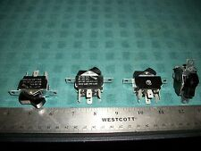LOT OF CARLINGS SWITCH-DPDT ON/ON OR ON/OFF 125VAC@6A 2 POLE ROCKER SWITCHES!