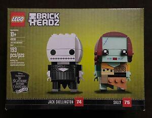 LEGO BrickHeadz Nightmare Before Christmas Jack Skellington & Sally 41630 Rare
