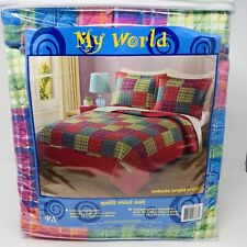 My World Quilt Mini Set Full/Queen Includes Quilt And Shams