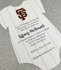 20 Baby MLB Onesie Baby Shower Invitation - Any Baseball Sports Team!