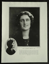Lady Cynthia Blanche Curzon Mosley M.P. 1930 1 Page Photo Article