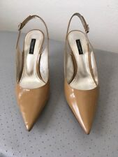 Like new Dolce & Gabbana women's slingback shoes, patent camel, size IT37