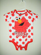 ELMO Sesame Street Place Big HUGS Body Snap Suit Infant Youth Size 0/3 Months